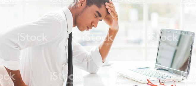 Rückenschmerzen durch Bürojob?