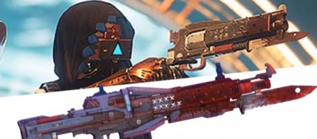 On top is the new hand cannon and right below it is the Red Death pulse rifle. - [YouTube/More Console]