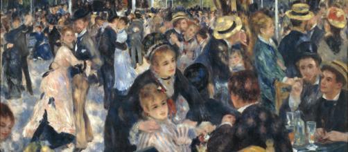 """""""Baile en el Moulin de la Galette"""" realizado en el año 1876"""