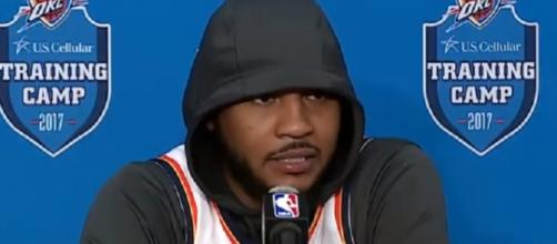 Carmelo Anthony is averaging 19.7 points this season (Image Credit: OKC Thunder Fans - Blue & White Army/YouTube)