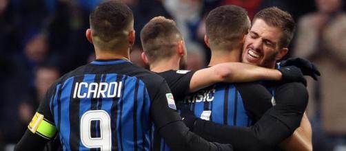 Giocatori in Inter-Chievo - Cronache della Campania