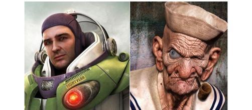 Personagens da sua infância como se fossem reais