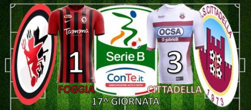 Termina 1-3 il match dello Zaccheria tra Foggia e Cittadella.