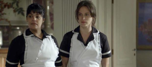 Após virar empregada, Clara sofre maus-tratos da neta de Beatriz em O Outro Lado do Paraíso