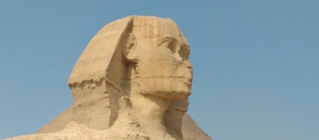 La Esfinge de Giza. Protege a las pirámides que se encuentran su espalda. Entre ellas, la Gran Pirámide. Foto: Rebeca San Cristóbal