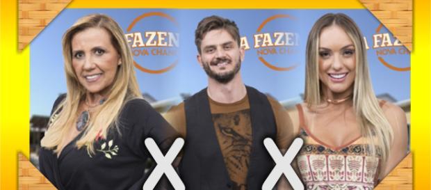 Marcos, Monick e Rita estão na Roça em ''A Fazenda - Nova Chance''