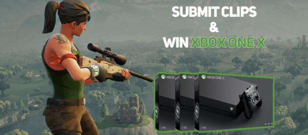 "Submit ""Fortnite"" Battle Royale clips and win Xbox One X. Image Credit: Own work"