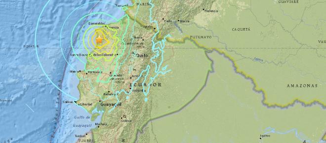 Sismo en Ecuador de magnitud 6,0 este domingo 3 de Diciembre