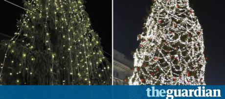 Austerity tree': Romans incensed at spartan Christmas fir | World ... - (Image Credit: Theguardian.com/Youtube screencap)