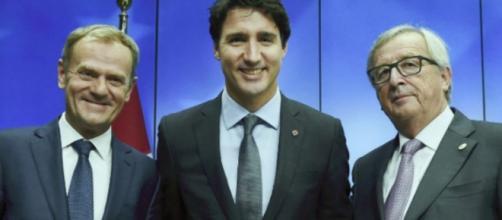 Cumbre UE-Canadá, el 30 de octubre de 2016 en la UE sede en Bruselas.