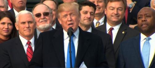 Donald Trump tax bill speech, via YouTube