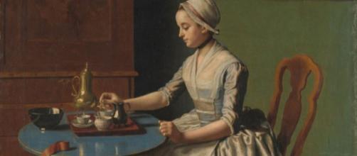 "Jean-Etienne Liotard's ""A Dutch Girl at Breakfast"" (Image via Adam Matthew Digital/ FLICKR)"