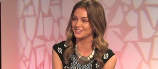 Lala Kent participates in an interview. [Photo via TooFab/YouTube]
