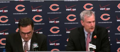 Owner George McCaskey and President Ted Phillips -- image: RhysVid / Youtube
