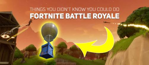 "Things you didn't know you could do in ""Fortnite"" Battle Royale. Image Credit: Own work"