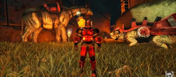 A screenshot from 'ARK's' 'Aberration' DLC - [Imae via YouTube/KingDaddyDMAC]