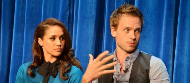 Megha Markle in 'Suits' panel 2013 in Paley Center (Image credit – Genevieve, Wikimedia Commons)