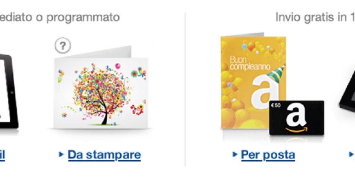 e832be138b Amazon regala buoni da 5 euro