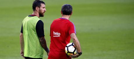 Tensión de Messi con Valverde por la alineación del Clásico - marca.com