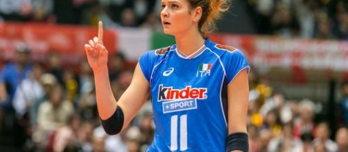 Cristina Chirichella carica per il mondiale 2018 Giappone