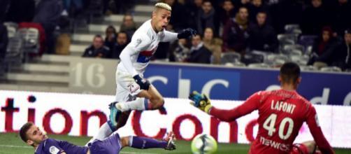 Mariano Diaz a obtenu un penalty litigieux (Gabalda /AFP)