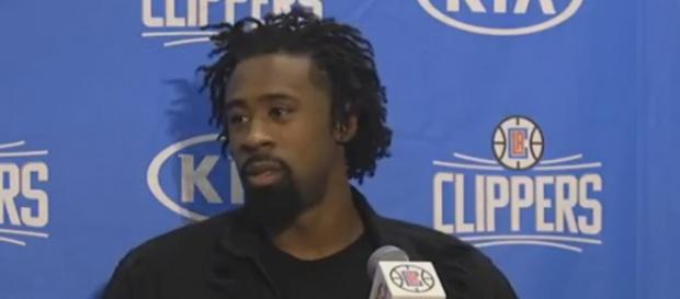 DeAndre Jordan is averaging 11.0 points, 14.8 rebounds and 1.2 boards this season (Image Credit: cavsHub/YouTube screencap)