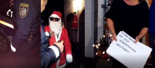 Die Polizei in Freistadt (Österreich) musste wegen einem stummen Weihnachtsmann anrücken / Fotos: privat, Marc Fischer / Blastingnews exklusiv