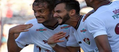 Destaques do Fluminense, Scarpa e Dourado seguem cobiçados por outras grandes equipes (Foto: Net Flu)