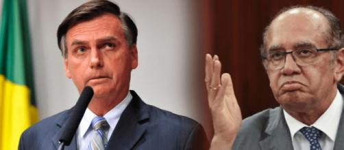 Jair Bolsonaro e Gilmar Mendes