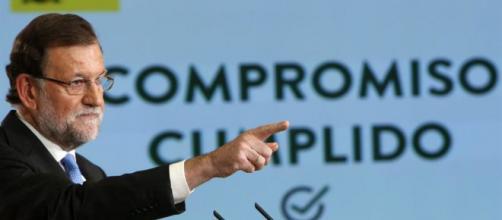 Mariano Rajoy durante un discurso