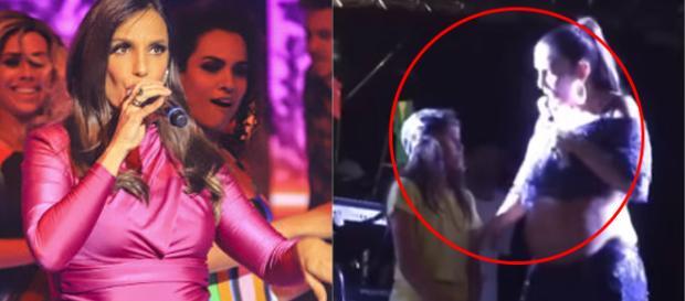 A atitude da cantora foi aplaudida pela plateia e pelos internautas.