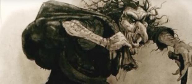 Artistic depiction of Gryla the Christmas Witch. Image credit: Crypticc/Youtube Channel.