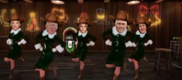 Donald Trump Christmas videos are hilarious. [Image Credit: Trump Trolls/Facebook]