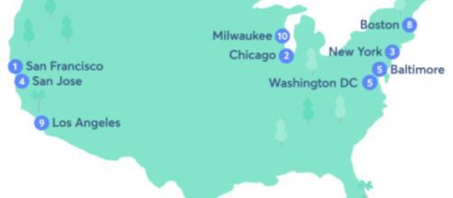 Le dieci migliori città americane per gli immigranti