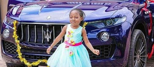Pastor gives six-year-old daughter $80,000 car for her birthday. - [Image: Africa For Us / YouTube screenshot]