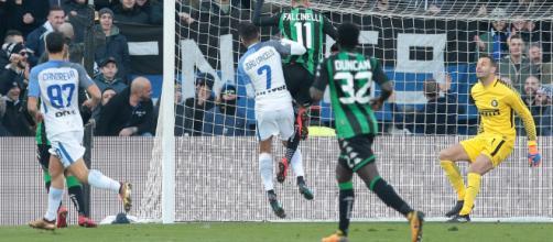 Sassuolo-Inter, il goal di Falcinelli