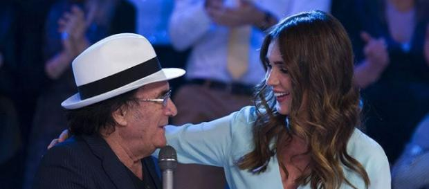 Albano Carrisi e Silvia Toffanin durante Verissimo