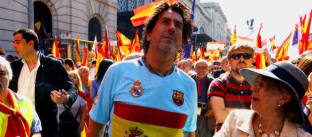 Álvaro de Marichalar en una manifestación