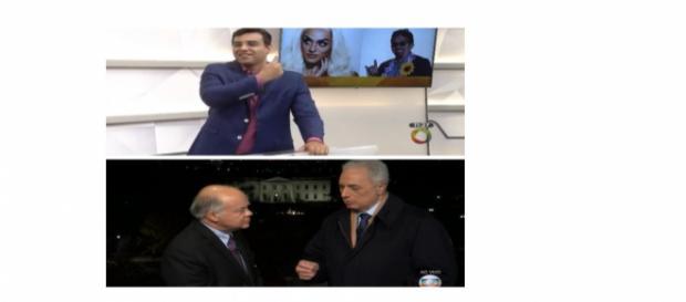 Wilian Waack e Fábio Araujo apresentando os programas que tiveram os casos de comentários de racismo e homofobia