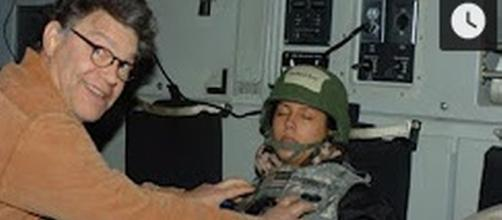 Al Franken allegedly groping woman [Image Source: Inside Edition/YouTube]