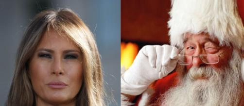 Melania Trump, Santa Claus, via Twitter