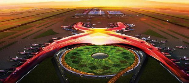 Detrás de la grandeza del Nuevo Aeropuerto de la Ciudad de México.