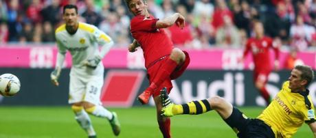 Thomas Müller, futbolista alemán del Bayern Múnich de la Bundesliga de Alemania.