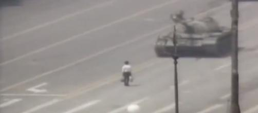 1989: Tiananmen Square protests- (Image Credit: CNN YouTube Cap)