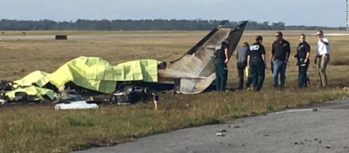 The scene of the plane crash that claimed five lives on Christmas Eve.[image courtesy of Polk County Sheriff's Department]