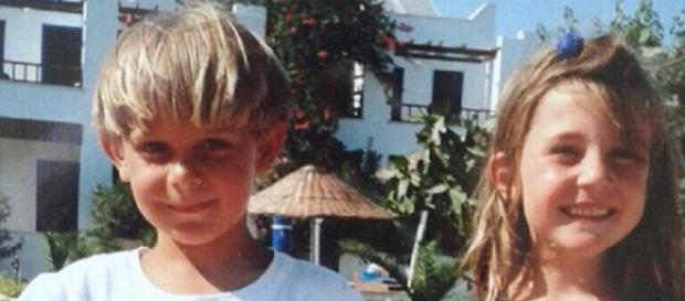Heidi e Ed quando eram crianças.