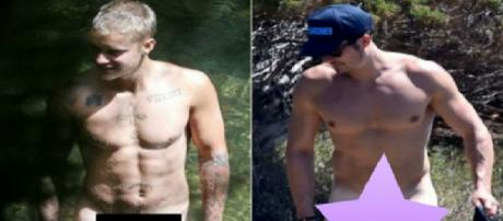 Justin Bieber e Orlando Bloom flagrados nus (site ego)