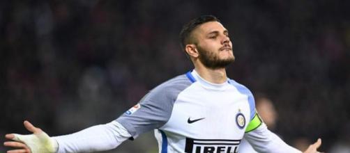 Icardi celebrando una anotación con e Inter
