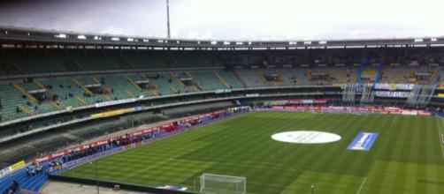 Lo stadio Bentegodi di Verona, teatro della sfida Hellas Verona - Juventus