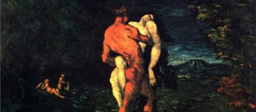 """The Abduction"" 1867 by Paul Cezanne public domain"